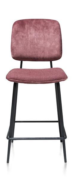 Xooon Novali barstoel - frame off black - rug in Karese & zit in Vito - burgundy red  Eetkamerstoel
