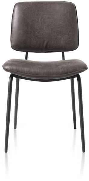 Xooon Novali eetkamerstoel - frame off black - Secilia - antraciet  Eetkamerstoel