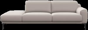Zilvano divan rechts van Xooon in stof Nubucco charcoal
