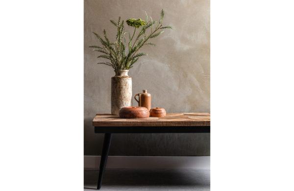 BePureHome Rhombic Salontafel 120x60cm Hout/metaal Natural Eettafel