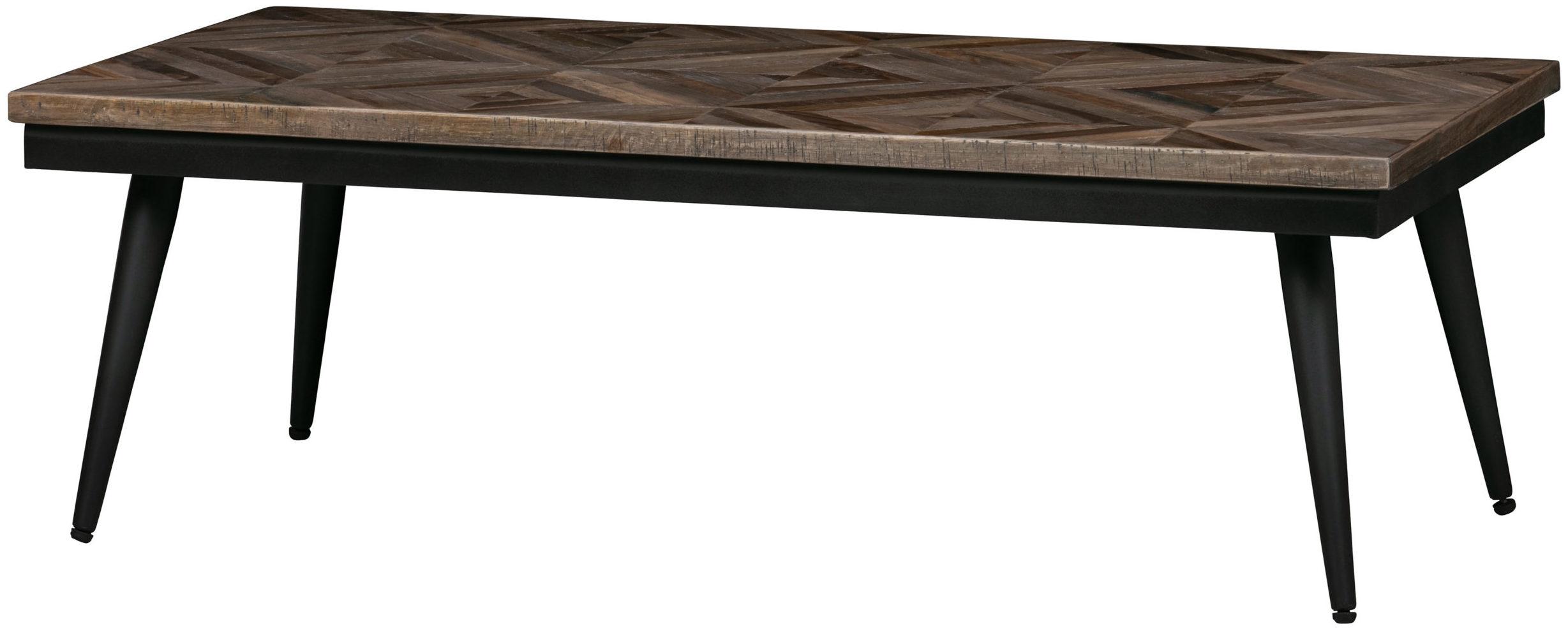 Rhombic Salontafel - 120x60cm - Hout/metaal