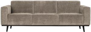 BePureHome Statement 3-zitsbank 230cm Brede Platte Rib Clay Clay Bank