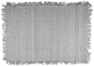 Carpet Woolie 200x290 cm - light grey By-Boo Woonaccessoire 210057