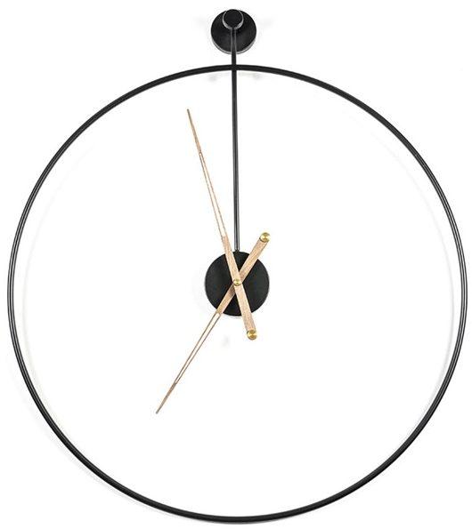 Sundial klok large - black