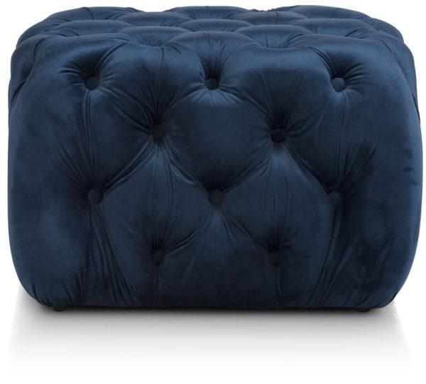 COCO maison Chester poef H40cm - blauw  Woonaccessoire