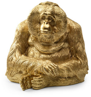 Feelings Orang-oetan spaarpot goud Woonaccessoire