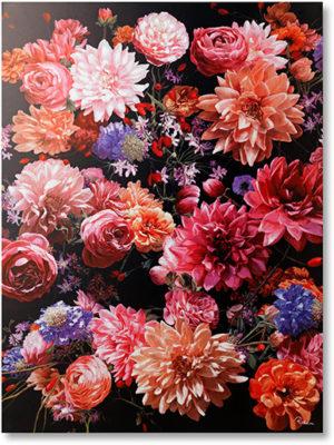 Feelings Touched flower bouquet wanddecoratie canvas Wanddecoratie