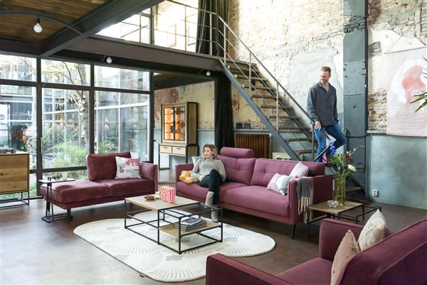 Henders & Hazel City eetkamertafel 140 x 100 cm. - castle antraciet  Eettafel