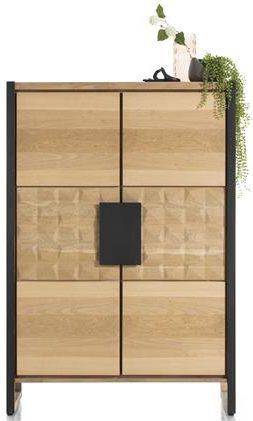 Henders & Hazel Metaluxe bergkast 120 cm. - 2-deuren met metaal  Kast