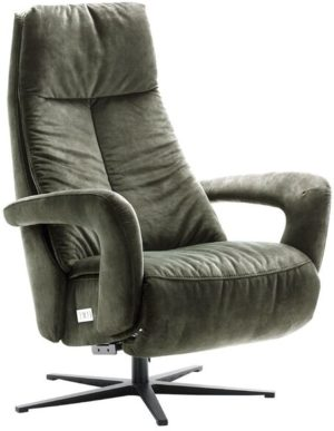 IN.House Relaxfauteuil Lomani donkergroen  Fauteuil
