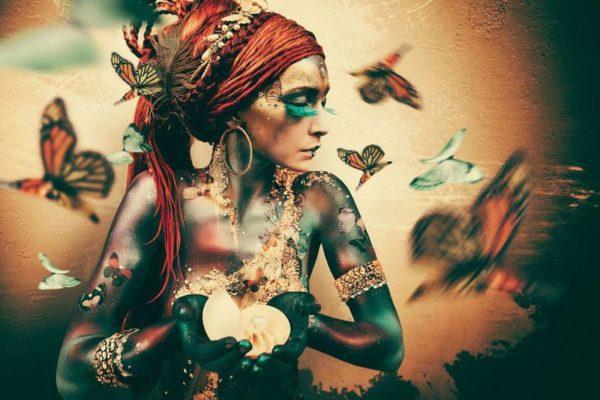 IN.House Wanddecoratie Women butterflies  Wanddecoratie