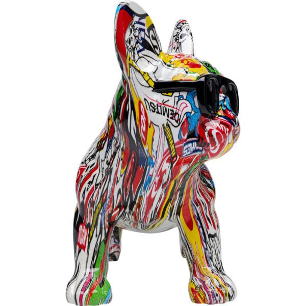 Beeld Figurine Comic Dog Glasses Kare Design Beeld 53127