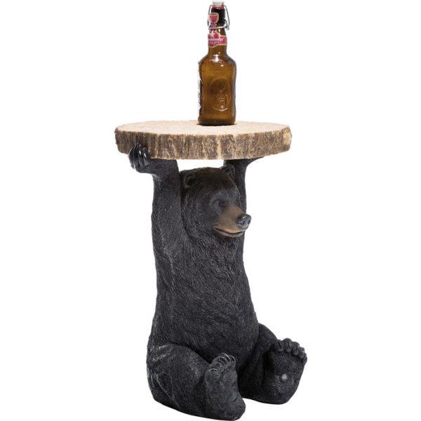 Bijzettafel Table Animal Bear Ø33cm Kare Design Bijzettafel 76375