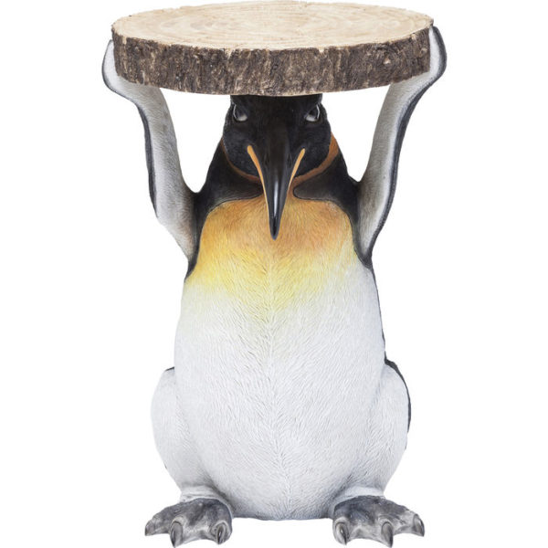 Bijzettafel Table Animal Mr. Penguin Ø33cm Kare Design Bijzettafel 80621