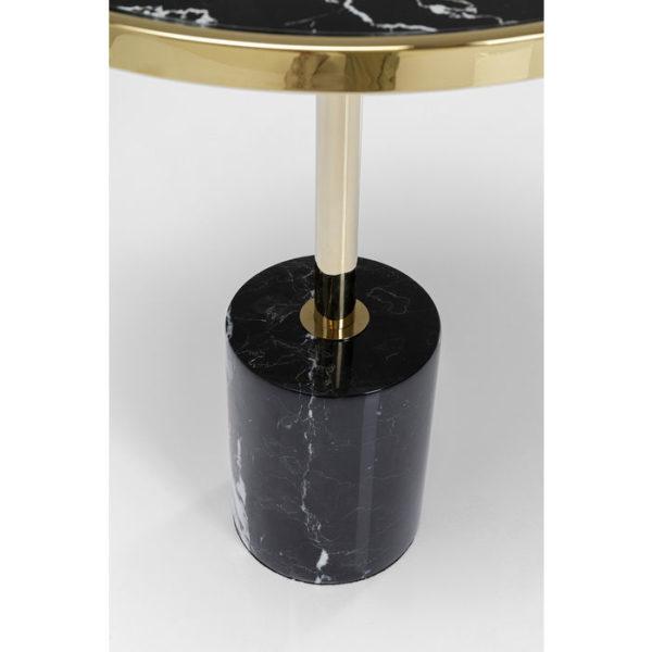 Bijzettafel Table San Remo Base Black Ø46cm Kare Design Bijzettafel 80970