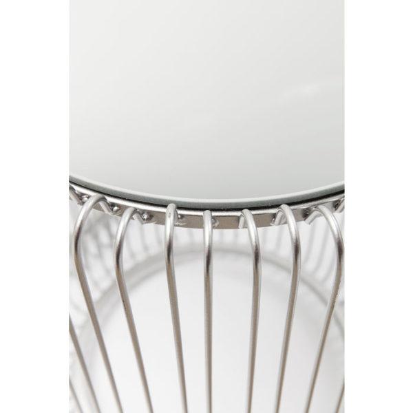 Bijzettafel Table Wire Silver (2/Set) Ø44cm Kare Design Bijzettafel 80899