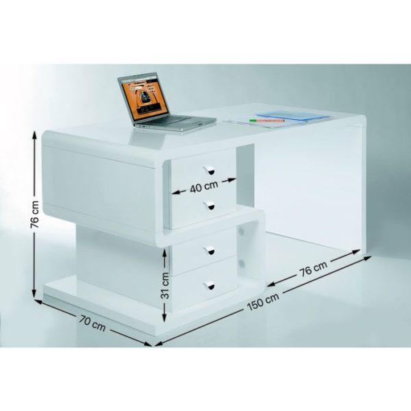 Bureau Club Desk Snake 150x70cm Kare Design Bureau 75193