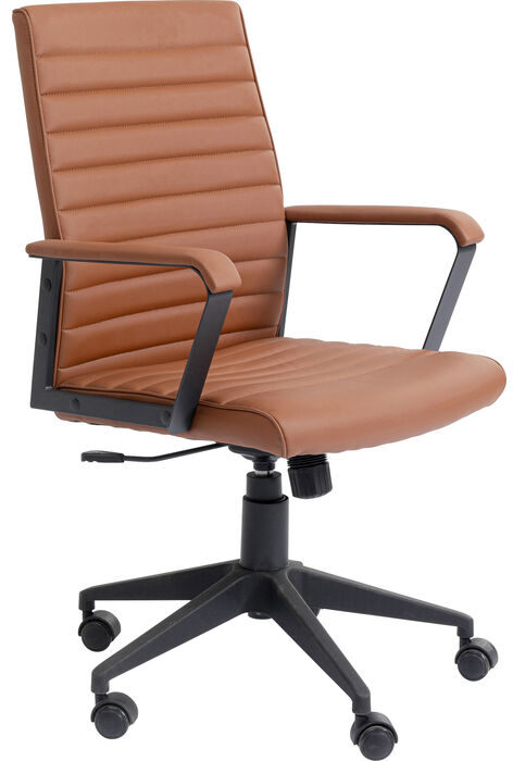 Bureaustoel Chair Labora Lightbrown Kare Design Bureaustoel 85723