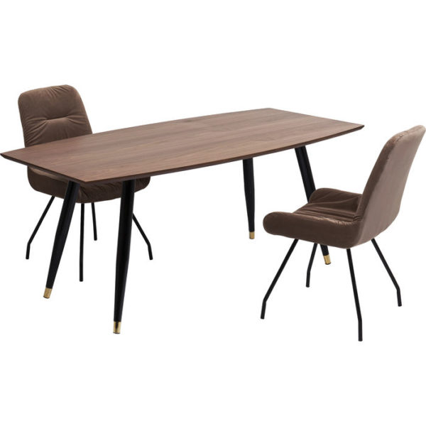 Eettafel Curve 180x90cm Kare Design Eettafel 84146