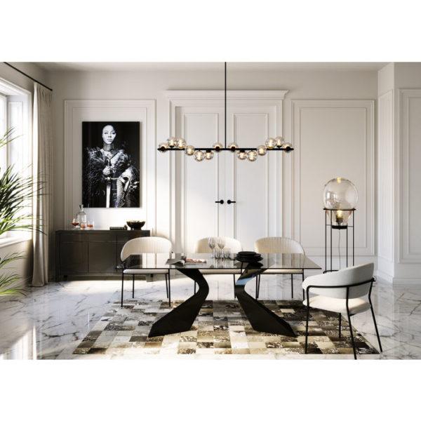 Eettafel Gloria Black 200x100cm Kare Design Eettafel 85731