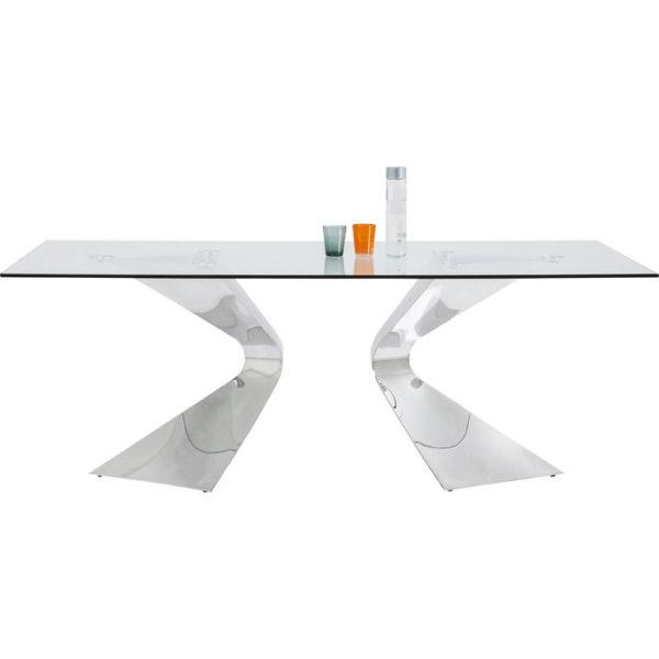 Eettafel Gloria Chrome 200x100cm Kare Design Eettafel 81924
