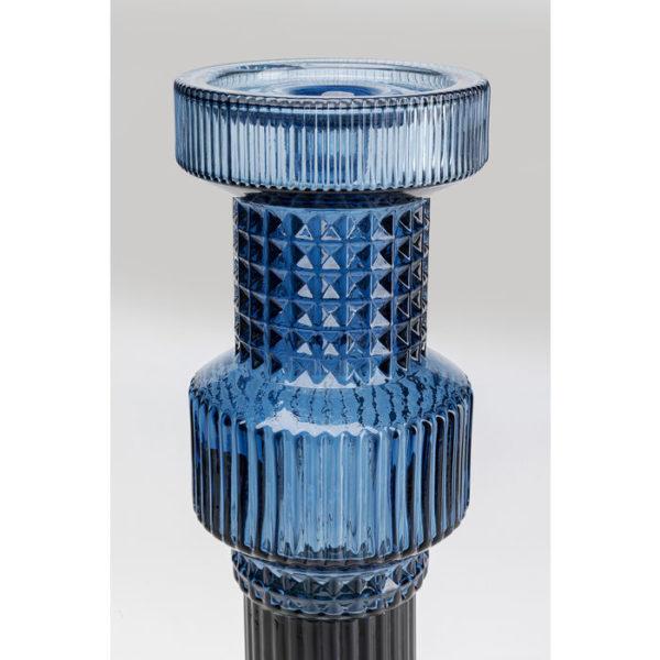 Kandelaar Holder Marvelous Duo Blue Smoke 49cm Kare Design Kandelaar 52270