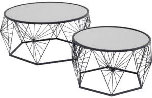 Salontafel Table Cobweb Black (2/Set) Kare Design Salontafel 85714
