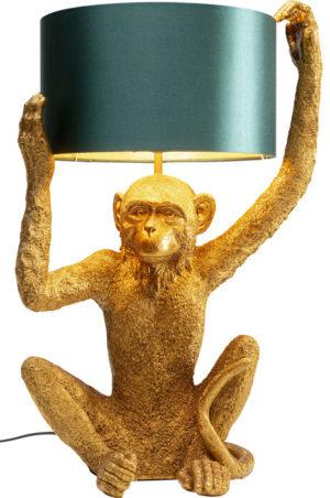 Tafellamp Lamp Animal Holding Monkey Gold Kare Design Tafellamp 53223