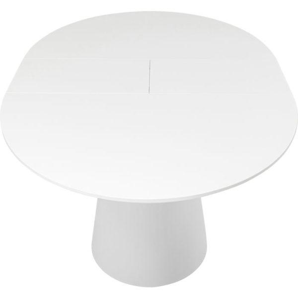 Uitschuiftafel Table Benvenuto White 200(50)x110cm Kare Design Uitschuiftafel 80819