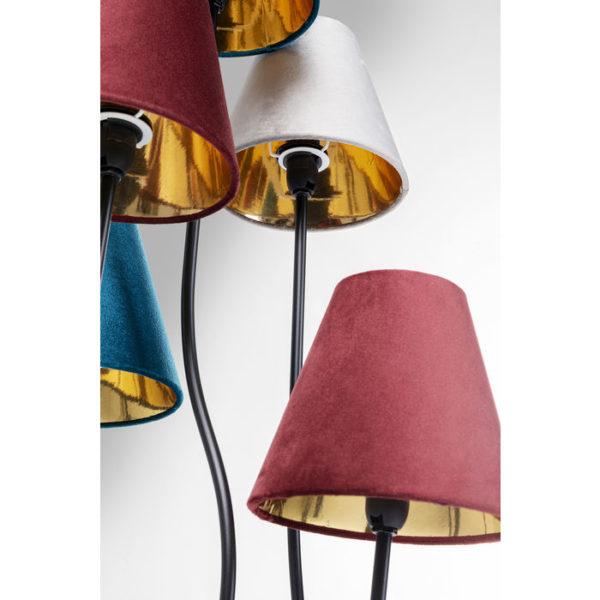 Vloerlamp Lamp Flexible Velvet Black Cinque Kare Design Vloerlamp 52434