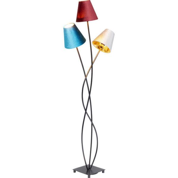 Vloerlamp Lamp Flexible Velvet Schwarz Tre Kare Design Vloerlamp 52436
