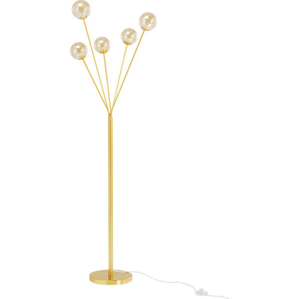Vloerlamp Lamp Talea Gold 156cm Kare Design Vloerlamp 53203