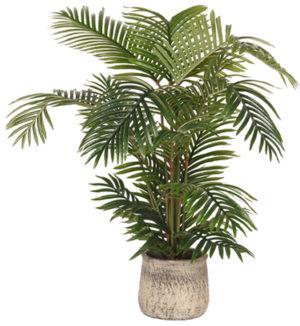 LABEL51 Artificial Plants Areca Palm - Groen - Kunststof - 110 Groen Woondecoratie