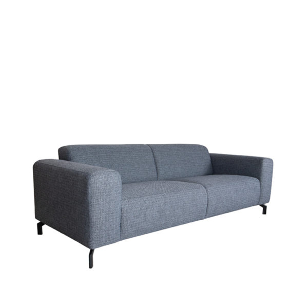 LABEL51 Bank Fano - Antraciet - Texture - 3-Zits Antraciet Barstoel