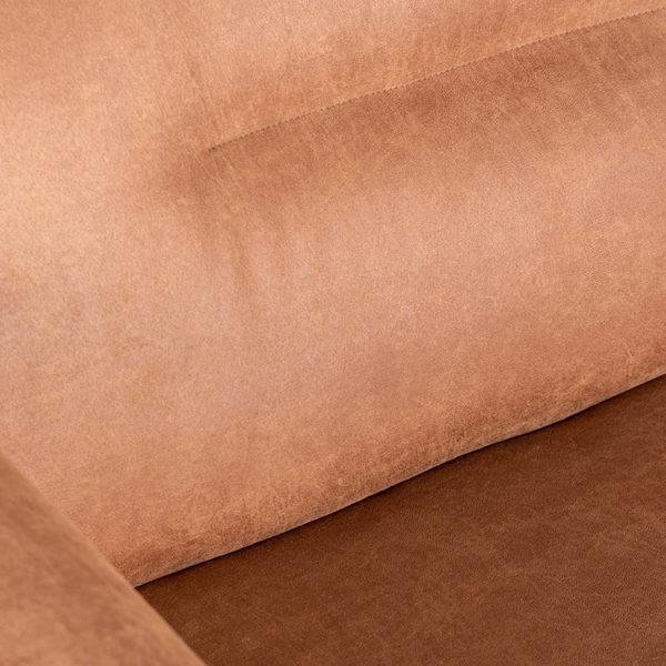 LABEL51 Bank Napoli 2.5-Zits + Ottomane - Cognac - Microfiber Cognac Barstoel