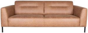 LABEL51 Bank Napoli - Cognac - Microfiber - 3-Zits Cognac Barstoel