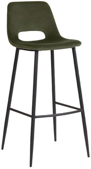 LABEL51 Barkruk Josh - Army green - Fluweel Army green Bartafel