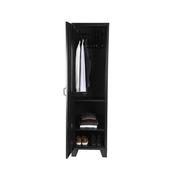 LABEL51 Bergkast Fence - Zwart - Metaal - 1 Deurs Zwart Bijzettafel