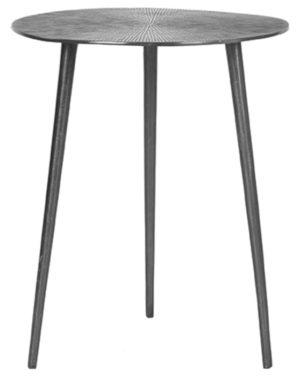 LABEL51 Bijzettafel Nobby - Grijs - Metaal - 40 cm Grijs Boekenkast