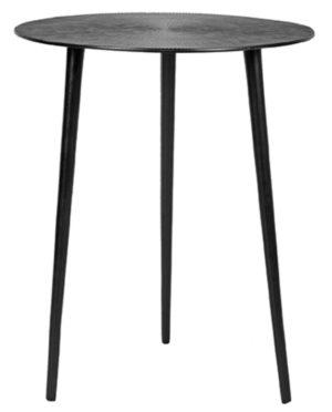 LABEL51 Bijzettafel Nobby - Zwart - Metaal - 40 cm Zwart Boekenkast