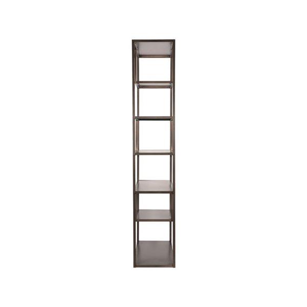 LABEL51 Boekkast Loft - Grijs - Metaal Grijs Bureau