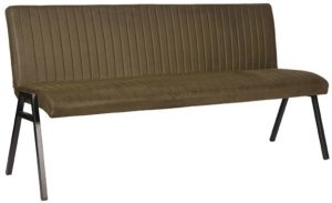 LABEL51 Eetkamerbank Matz - Army green - Microfiber - 175 cm Army green Eetkamerstoel
