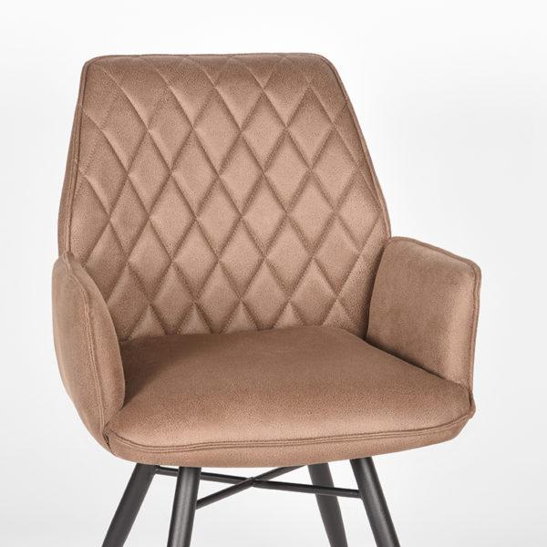 LABEL51 Eetkamerstoel Bink - Stone - Microfiber Stone Eettafel