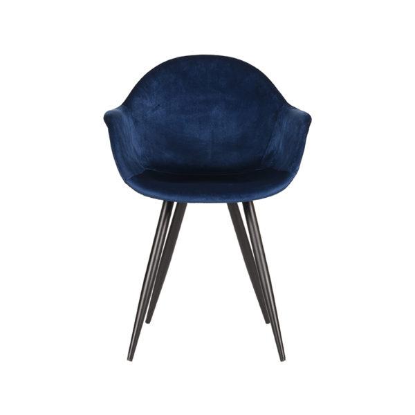 LABEL51 Eetkamerstoel Forli - Blauw - Fluweel Blauw Eettafel