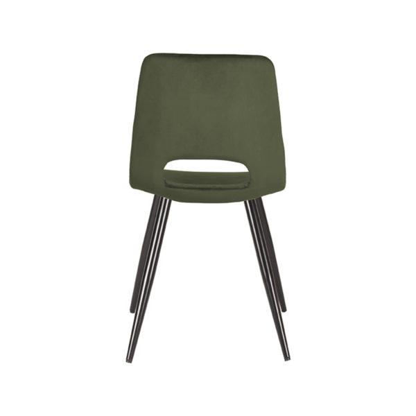 LABEL51 Eetkamerstoel Josh - Army green - Fluweel Army green Eettafel