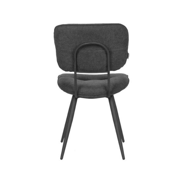 LABEL51 Eetkamerstoel Lux - Antraciet - Weave Antraciet Eettafel