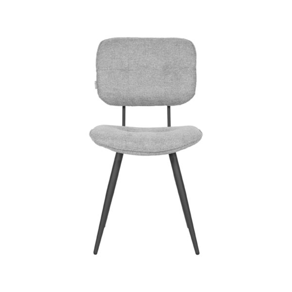 LABEL51 Eetkamerstoel Lux - Zinc - Weave Zinc Eettafel