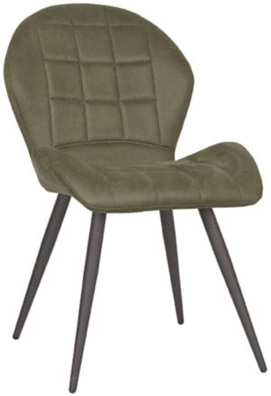 LABEL51 Eetkamerstoel Sil - Army green - Microfiber Army green Eettafel