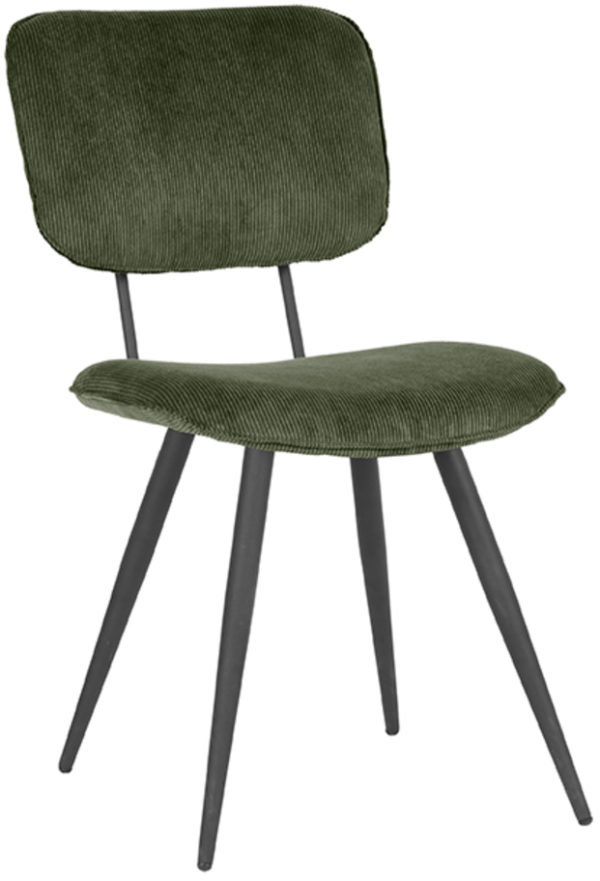 LABEL51 Eetkamerstoel Vic - Army green - Ribcord Army green Eettafel