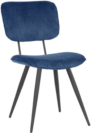 LABEL51 Eetkamerstoel Vic - Blauw - Ribcord Blauw Eettafel